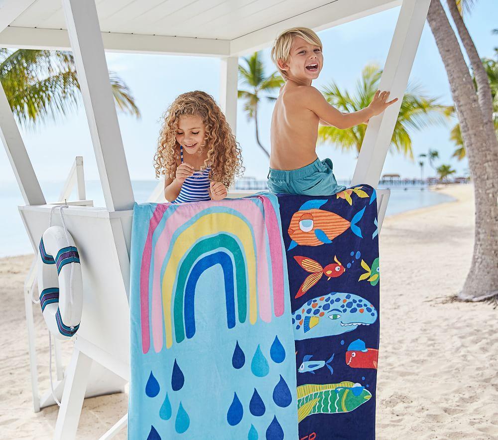 Funny Fish Beach Towel