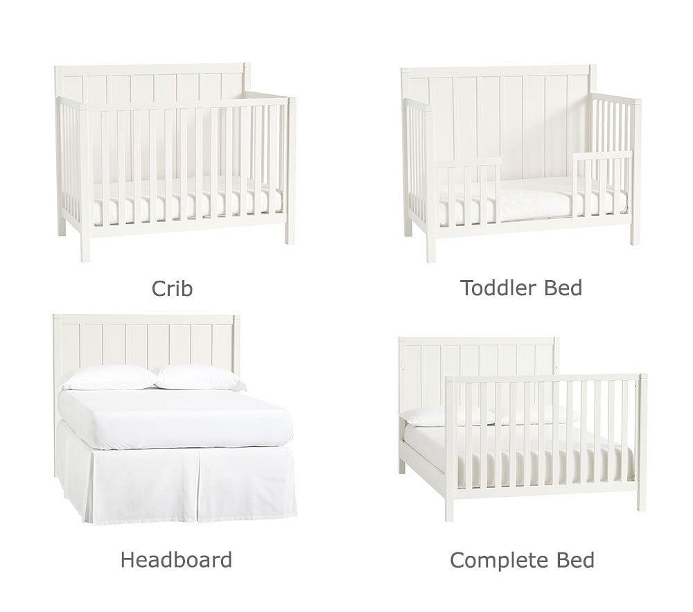 Camp 4-in-1 Convertible Cot - Simply White