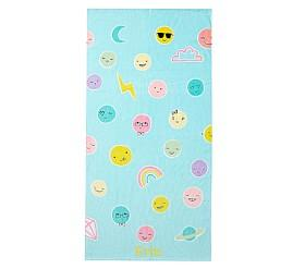 Funny Faces Beach Towel