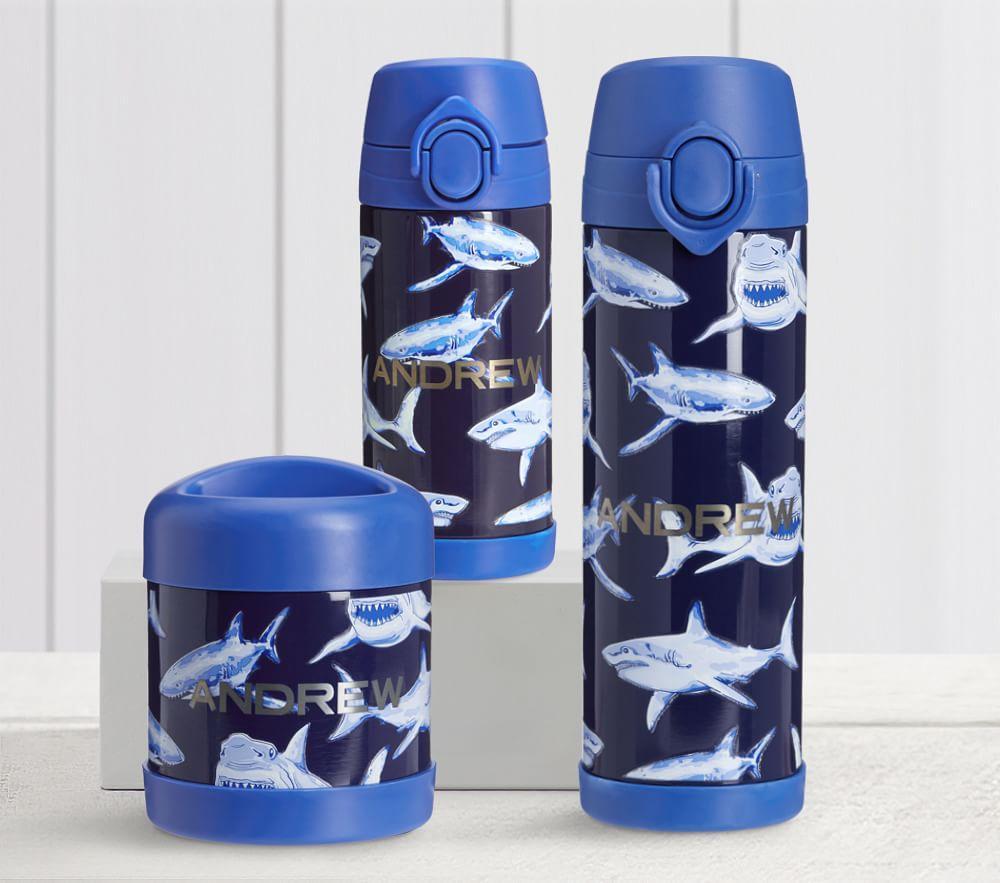 Mackenzie Blue Glow-in-the-Dark Sharks Water Bottles