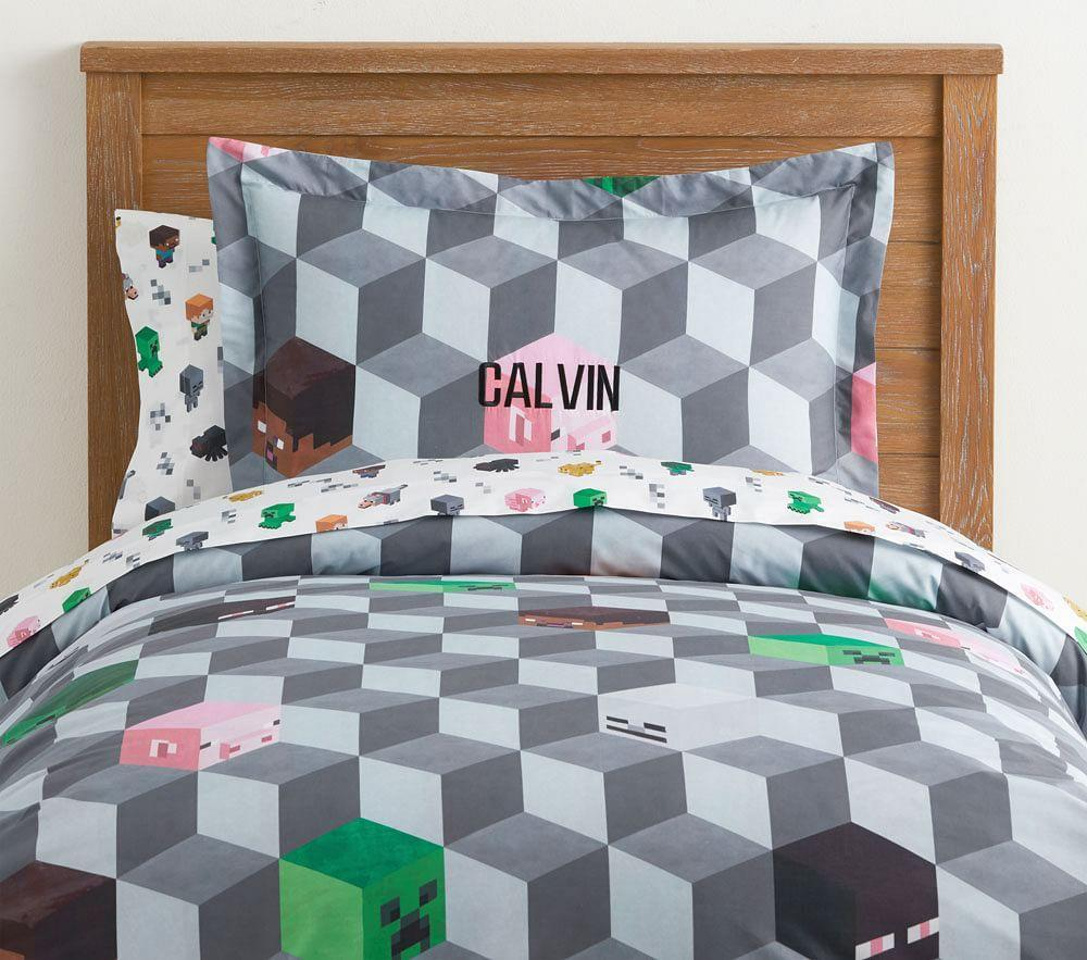 Minecraft Organic Printed Quilt Cover