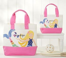 Nautical Blonde Mermaid Tote