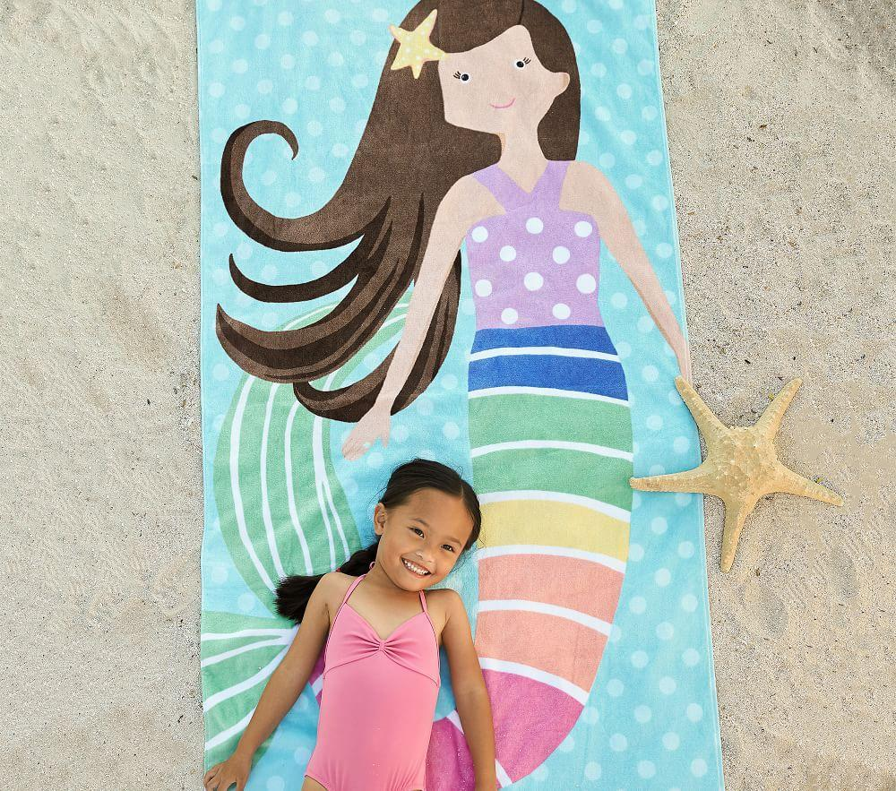 Rainbow Mermaid Beach Towel