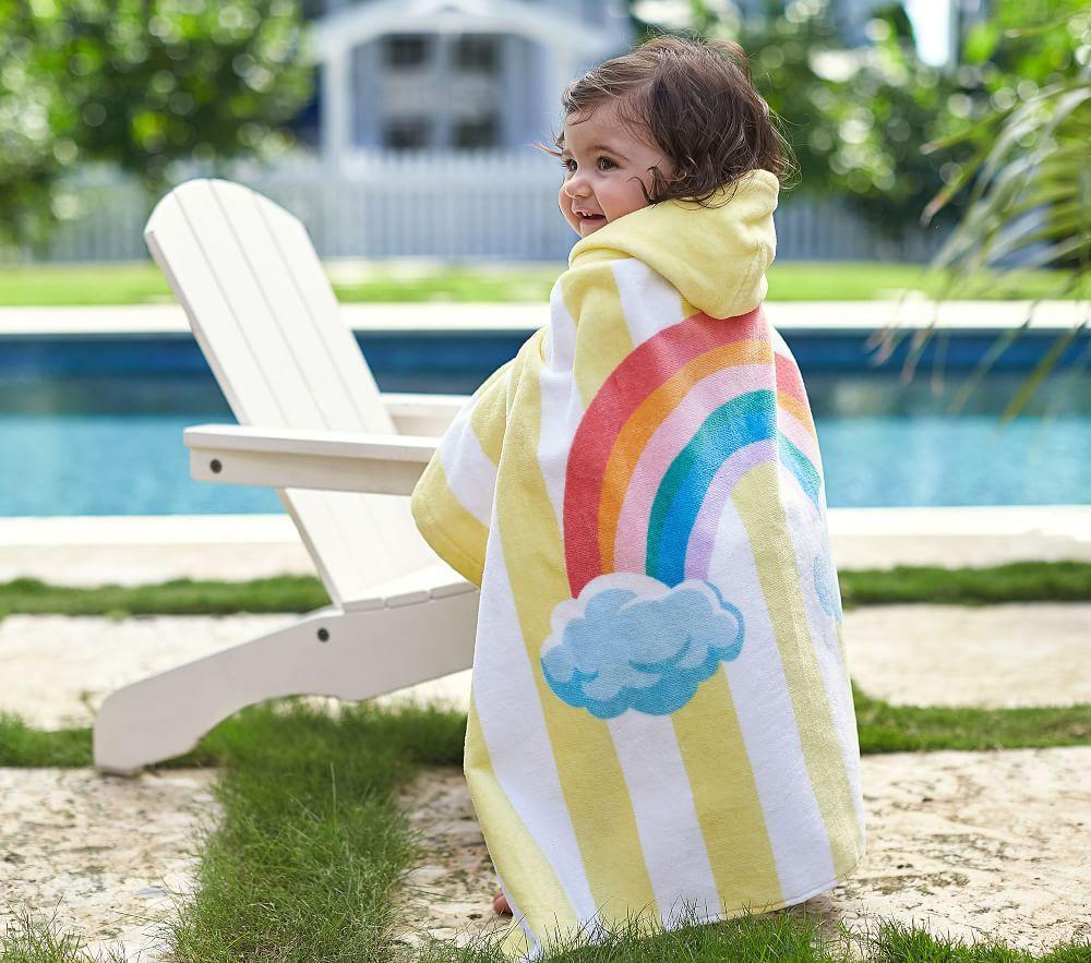 Rainbow Stripe Baby Beach Wrap