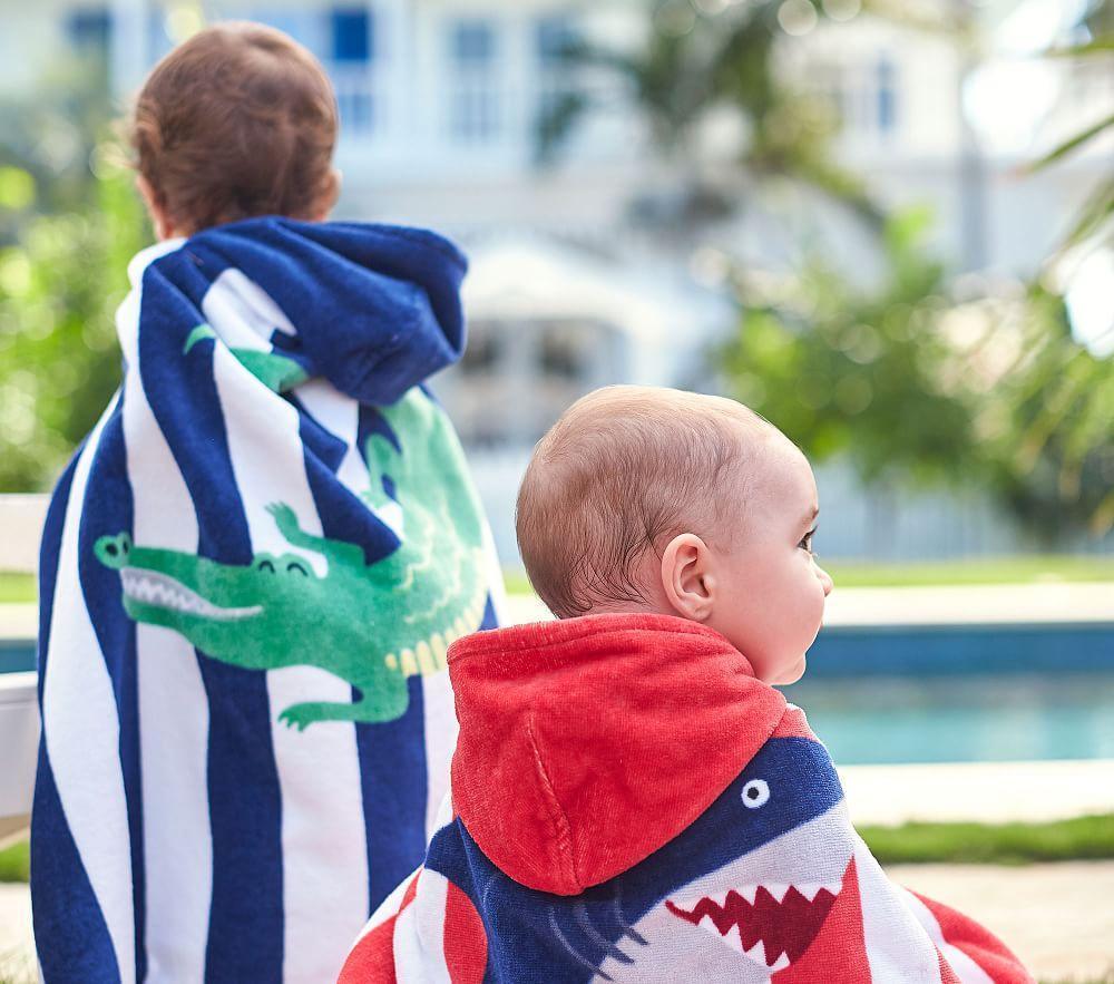 Shark Stripe Baby Beach Wrap