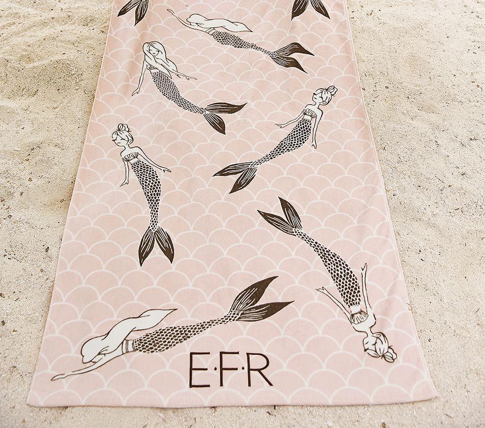 The Emily & Meritt Mermaid Beach Towel