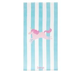 Unicorn Stripe Beach Towel