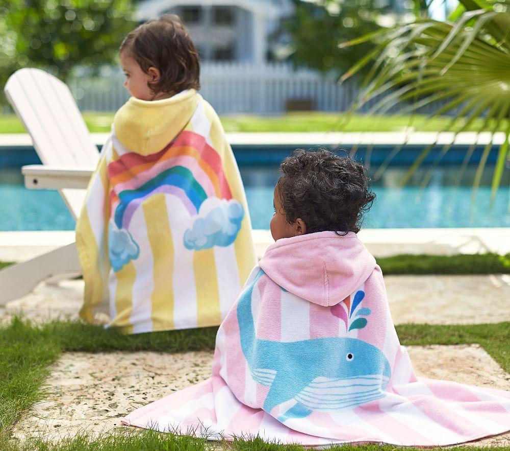 Whale Stripe Baby Beach Wrap