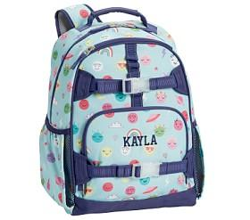 Mackenzie Aqua Lavender Charming Emojis Backpacks