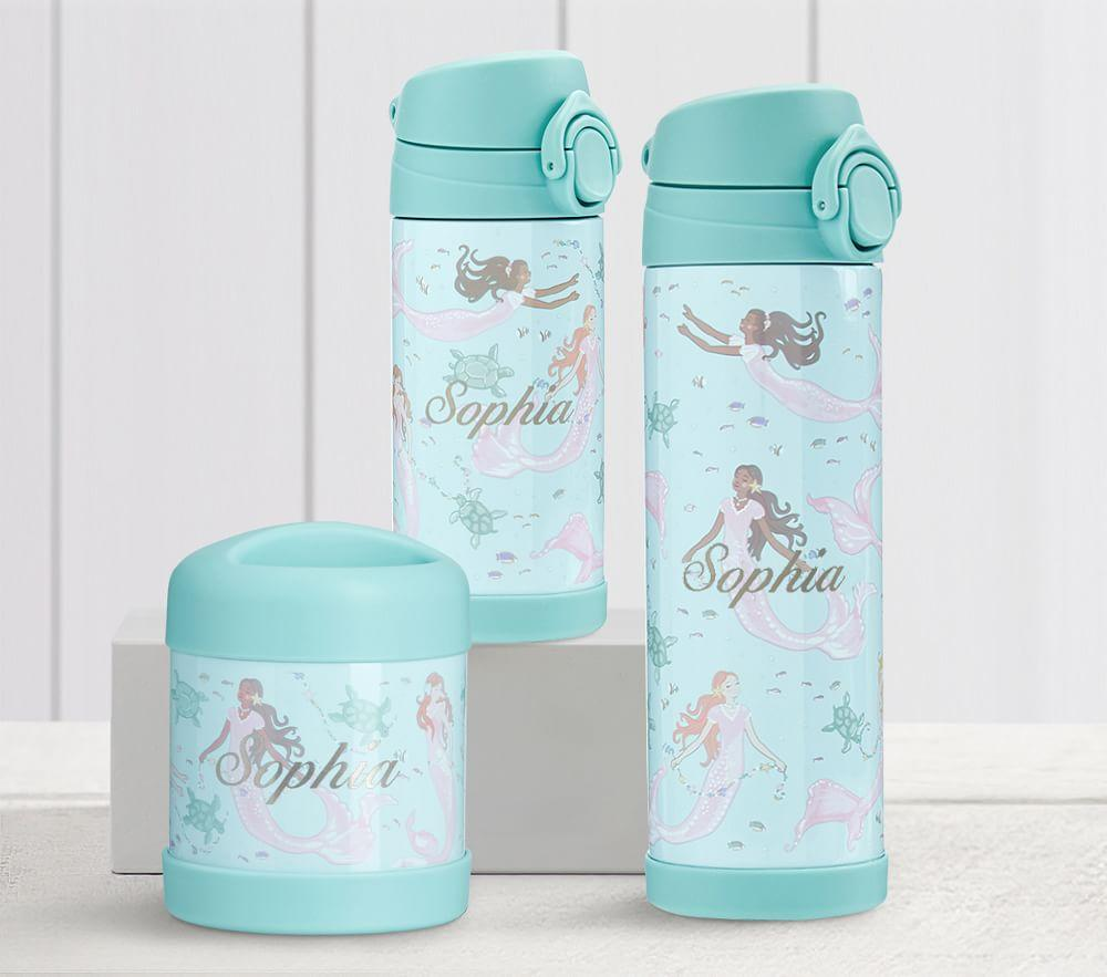 Mackenzie Aqua Magical Mermaid Water Bottles & Food Storage