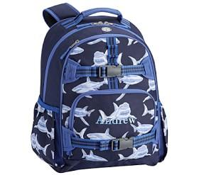 Mackenzie Blue Glow-in-the-Dark Shark Backpacks
