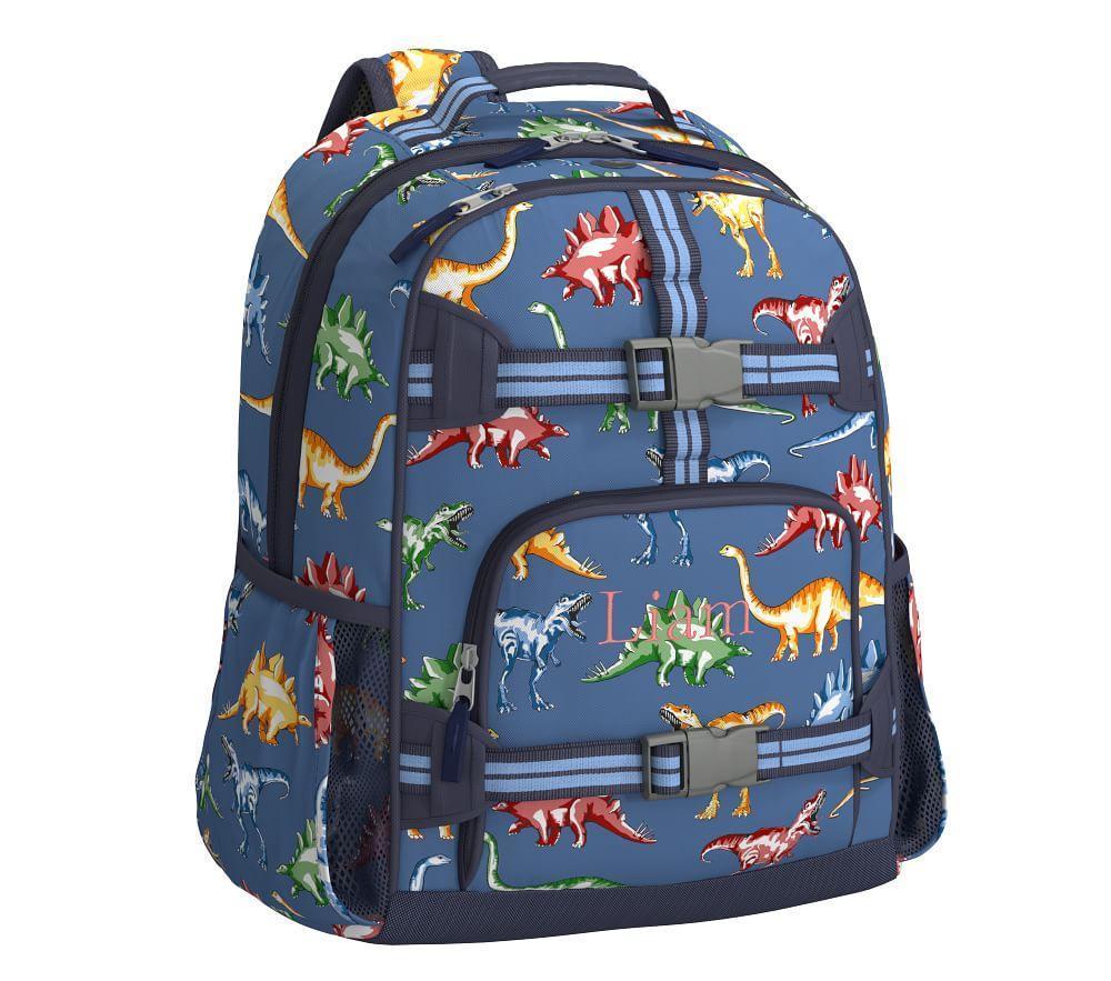 Mackenzie Blue Multicolor Dino Backpack