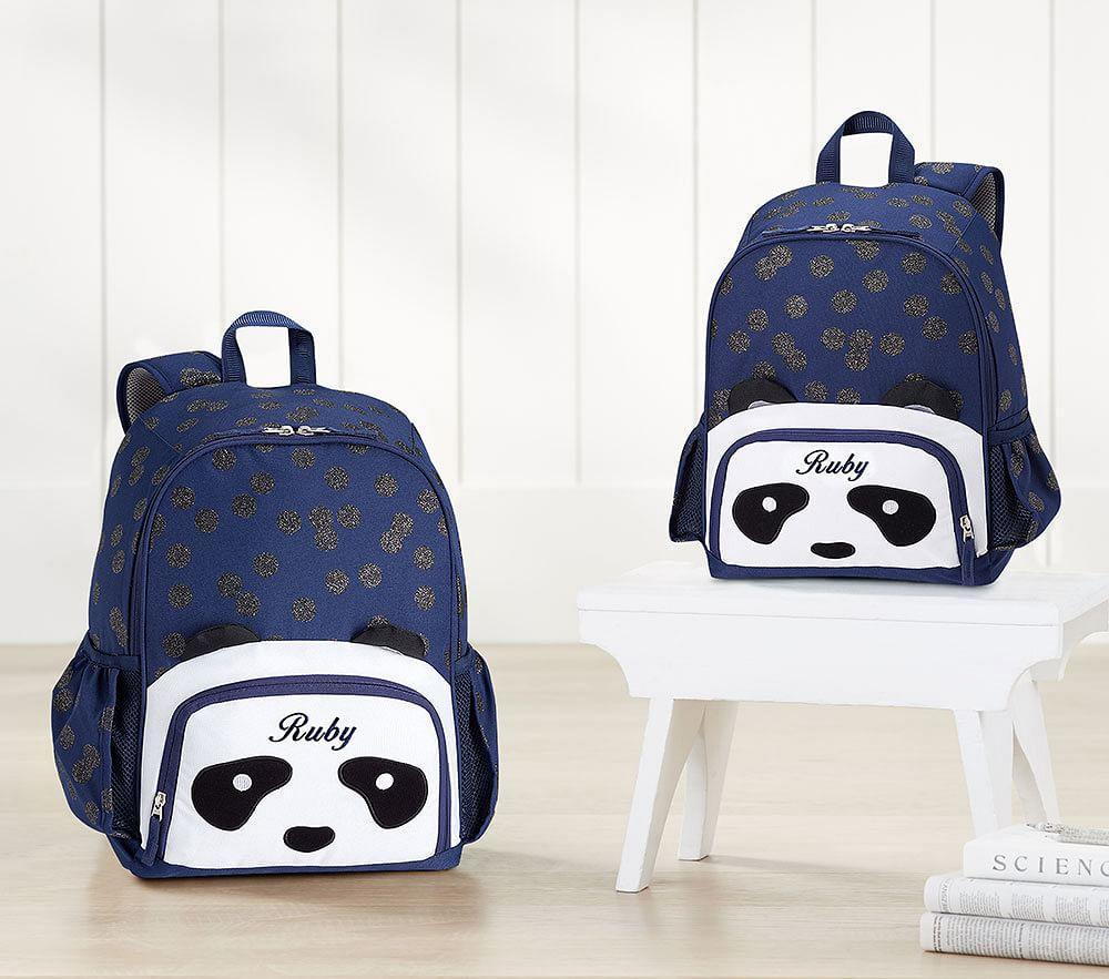 Mackenzie Animal Navy Panda Backpacks