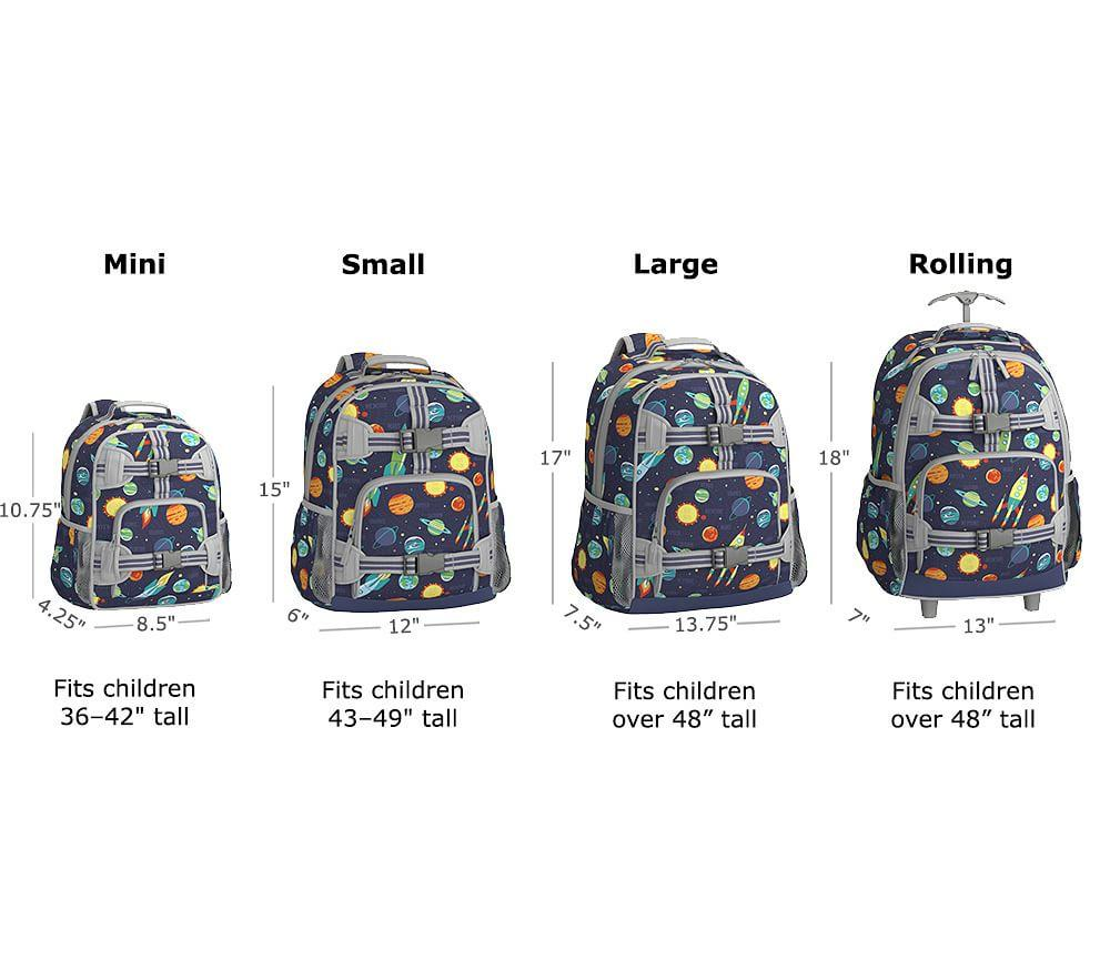 Mackenzie Grey/Blue Preppy Monster Backpacks