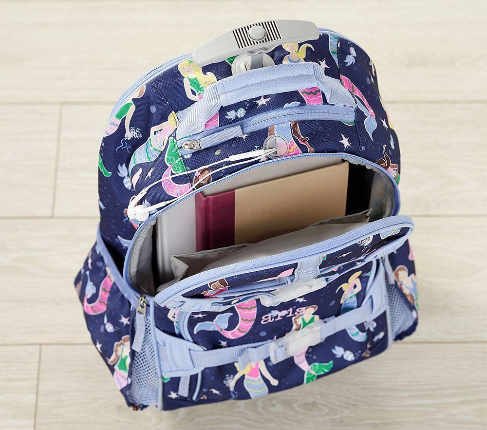 Mackenzie Navy Gold Foil Butterflies Backpacks