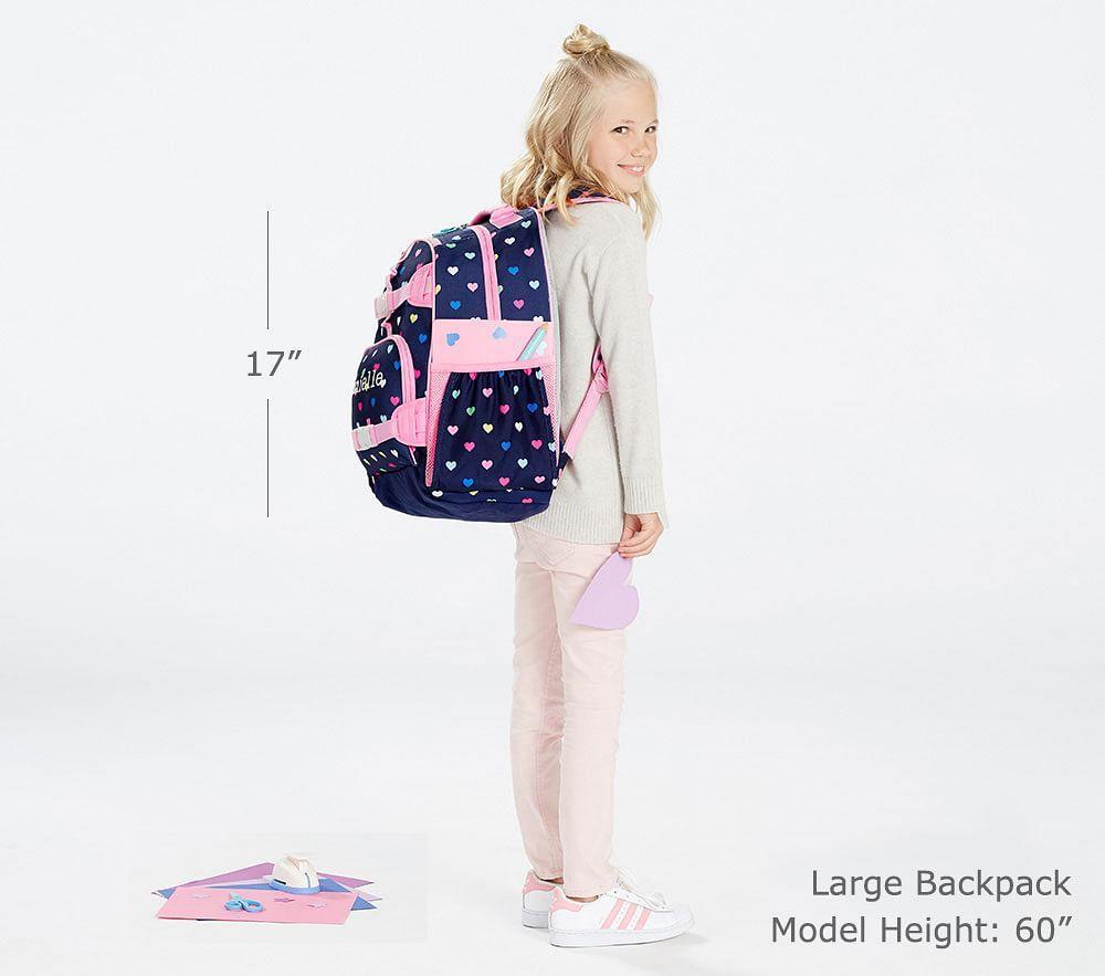 Mackenzie Pink Cascading Hearts Backpacks Pottery Barn Kids