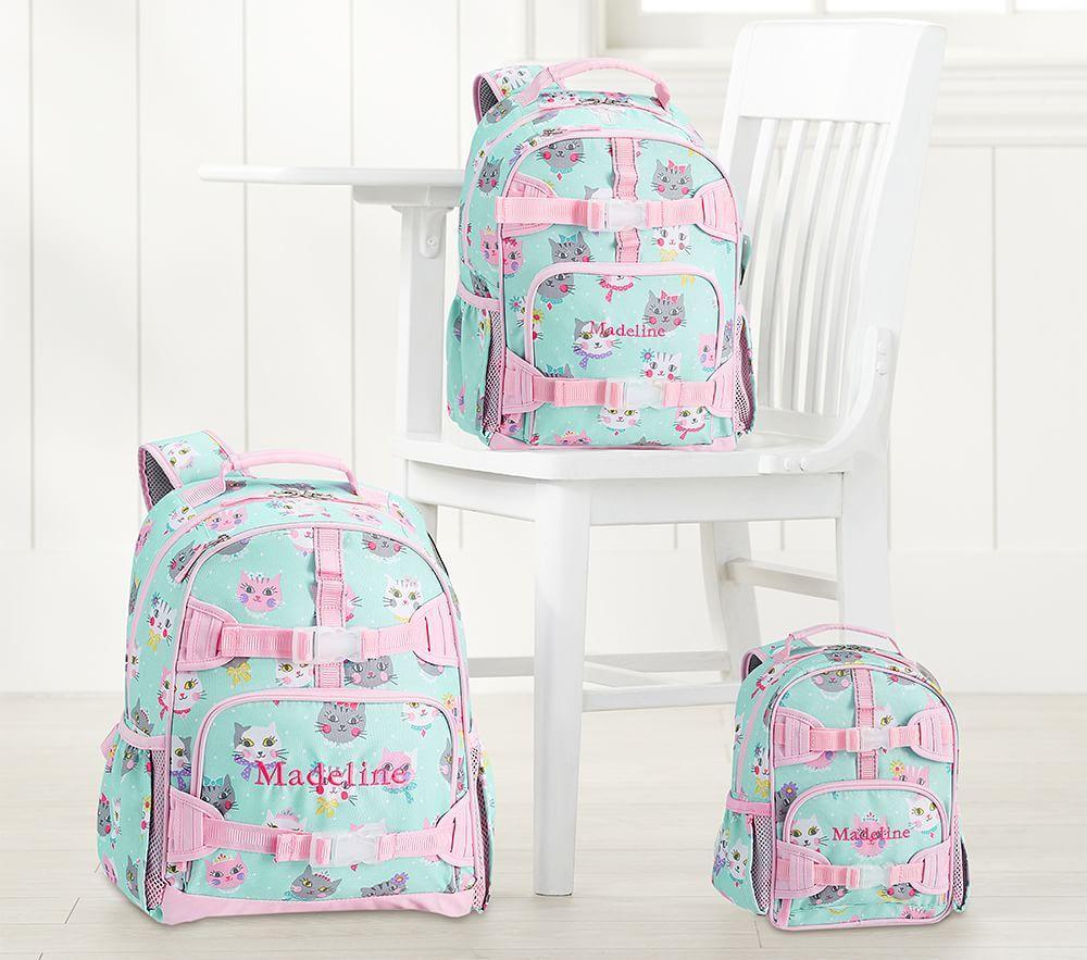 Mackenzie Aqua Pink Princess Kitty Backpacks