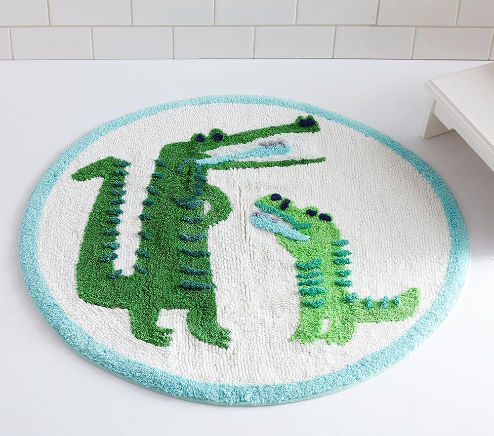 Alligator Round Bath Mat