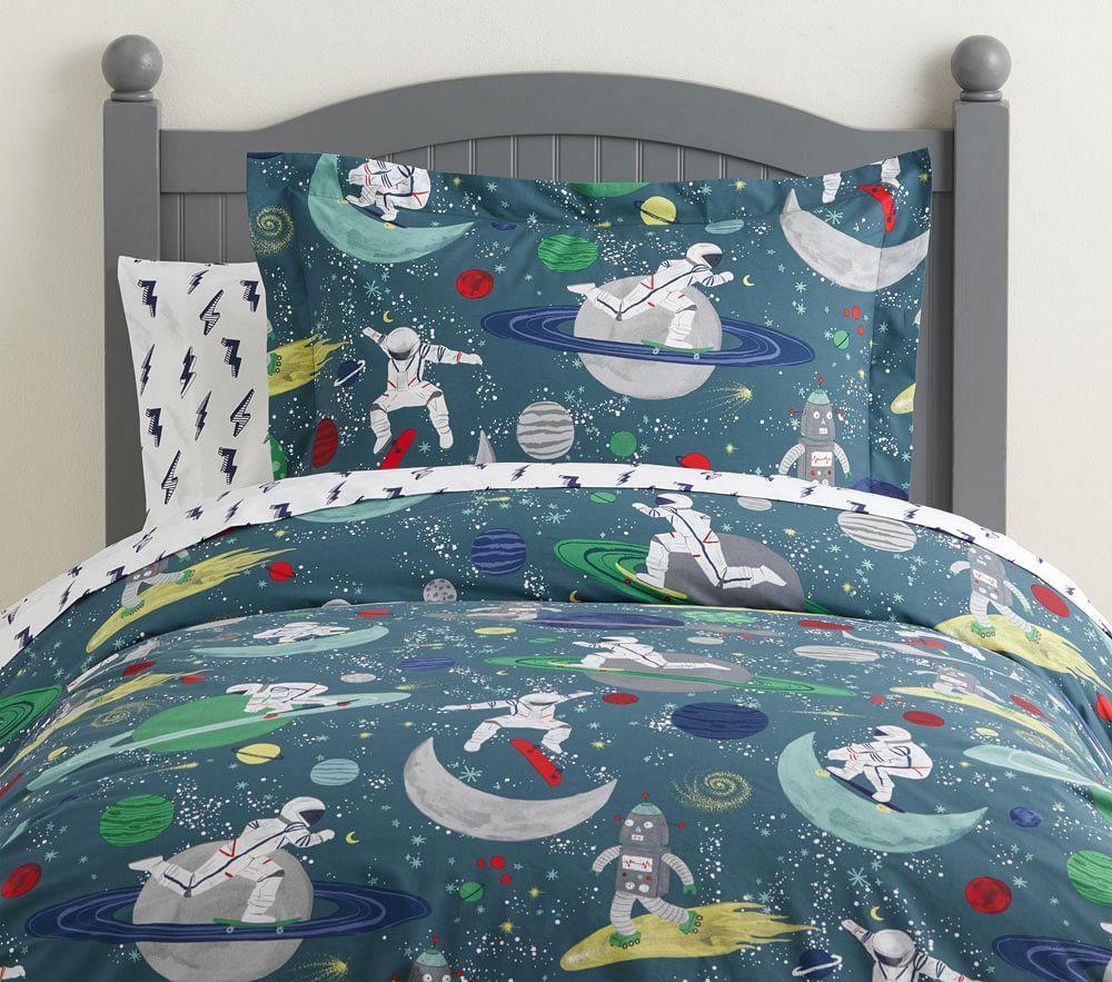 Organic Astronaut Glow-in-the-Dark Quilt Cover