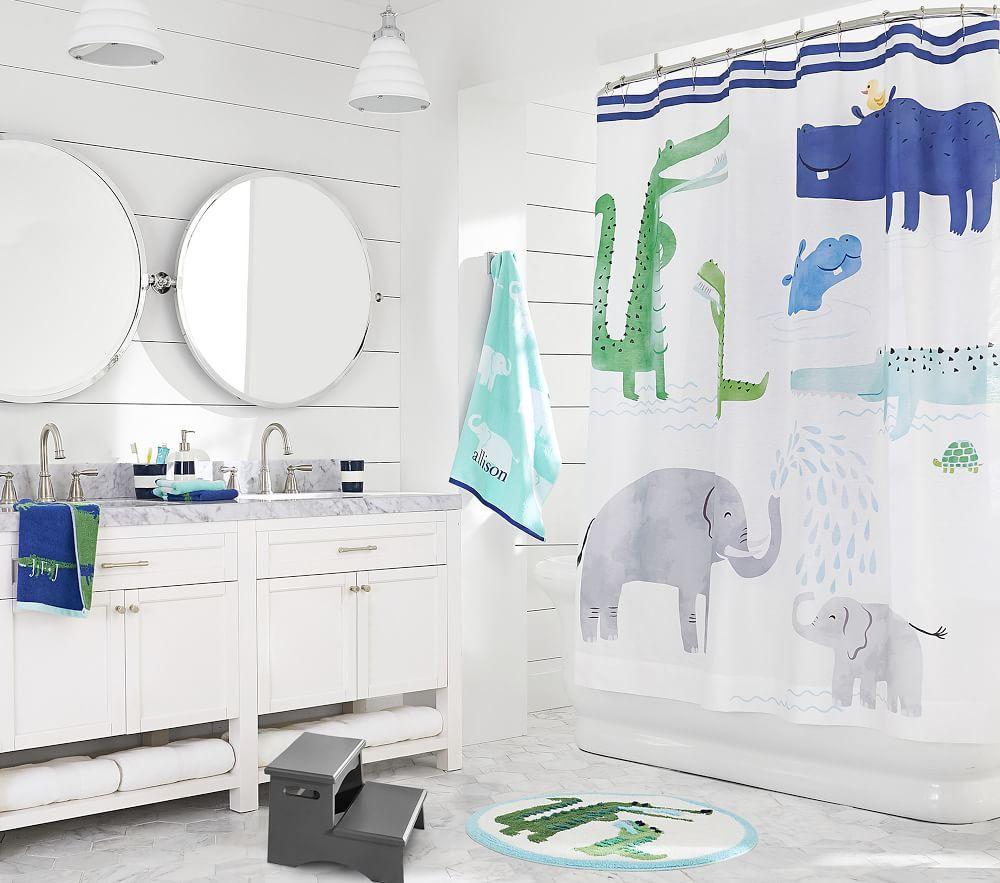 Safari Printed Shower Curtain