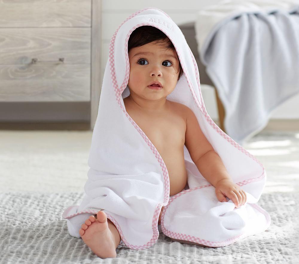 Gingham Hooded Towel