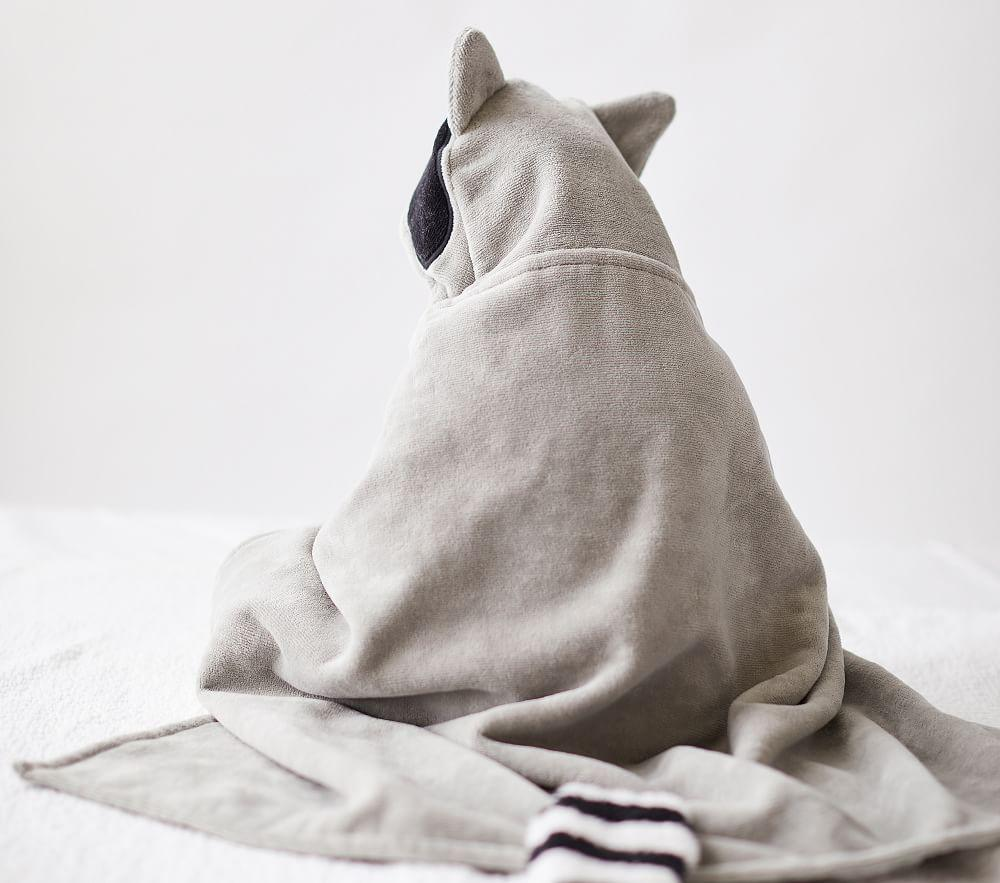 west elm x pbk Racoon Bath Wrap