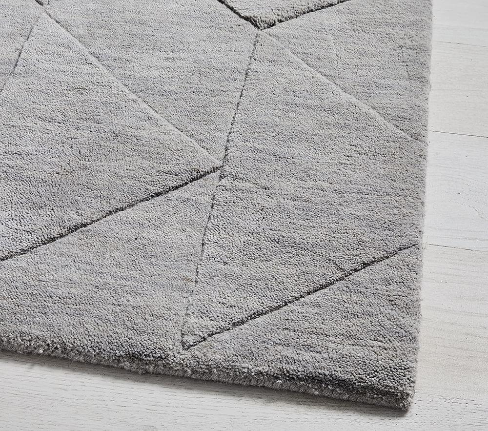 west elm x pbk Carved Triangles Wool Rug