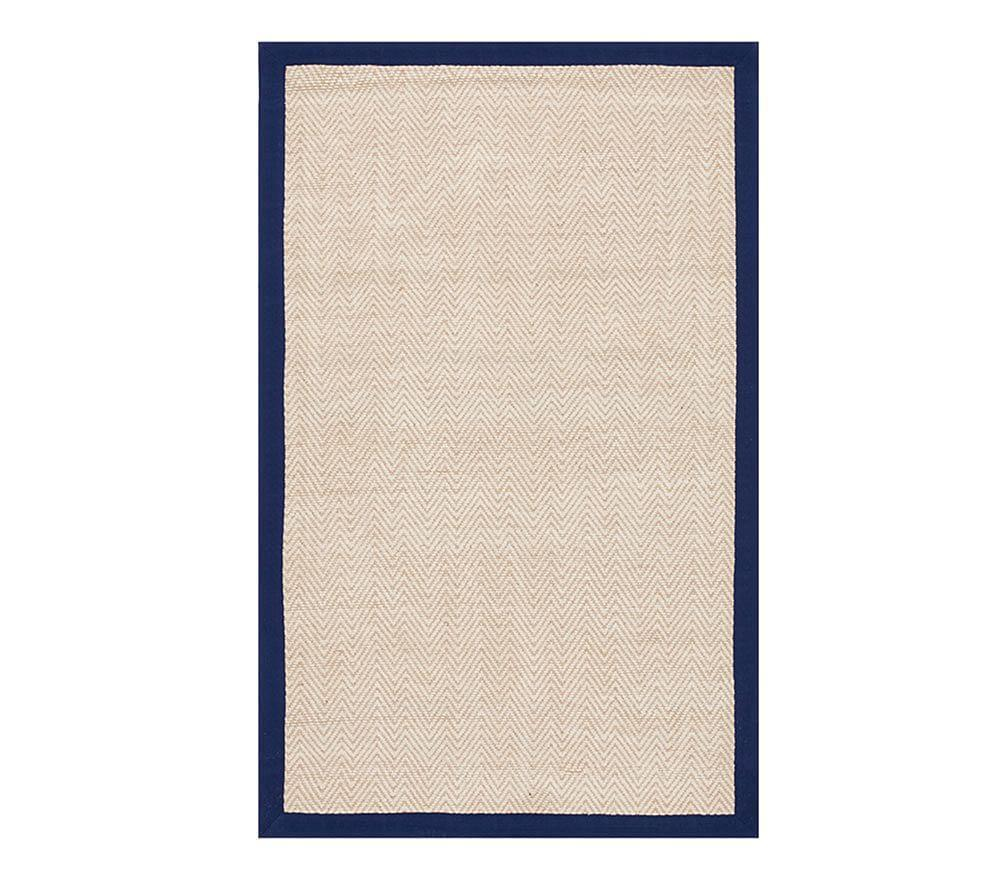 Chenille Jute Thick Solid Border Rug