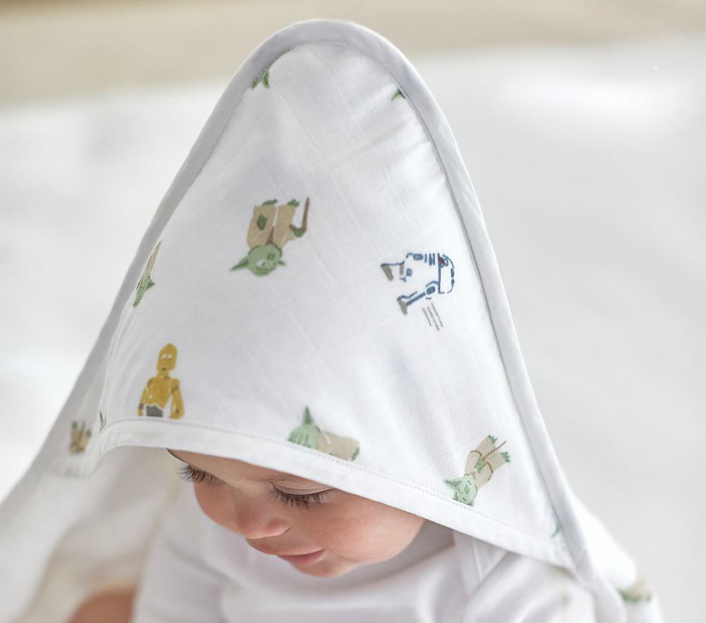 Star Wars Muslin Nursery Hooded Towel And Washcloth Set