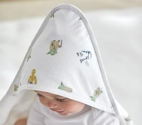 Star Wars Muslin Nursery Hooded Towel And Washcloth Set