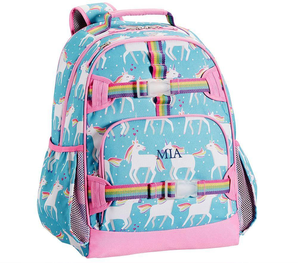 Mackenzie Aqua Unicorn Backpack Pottery Barn Kids Au