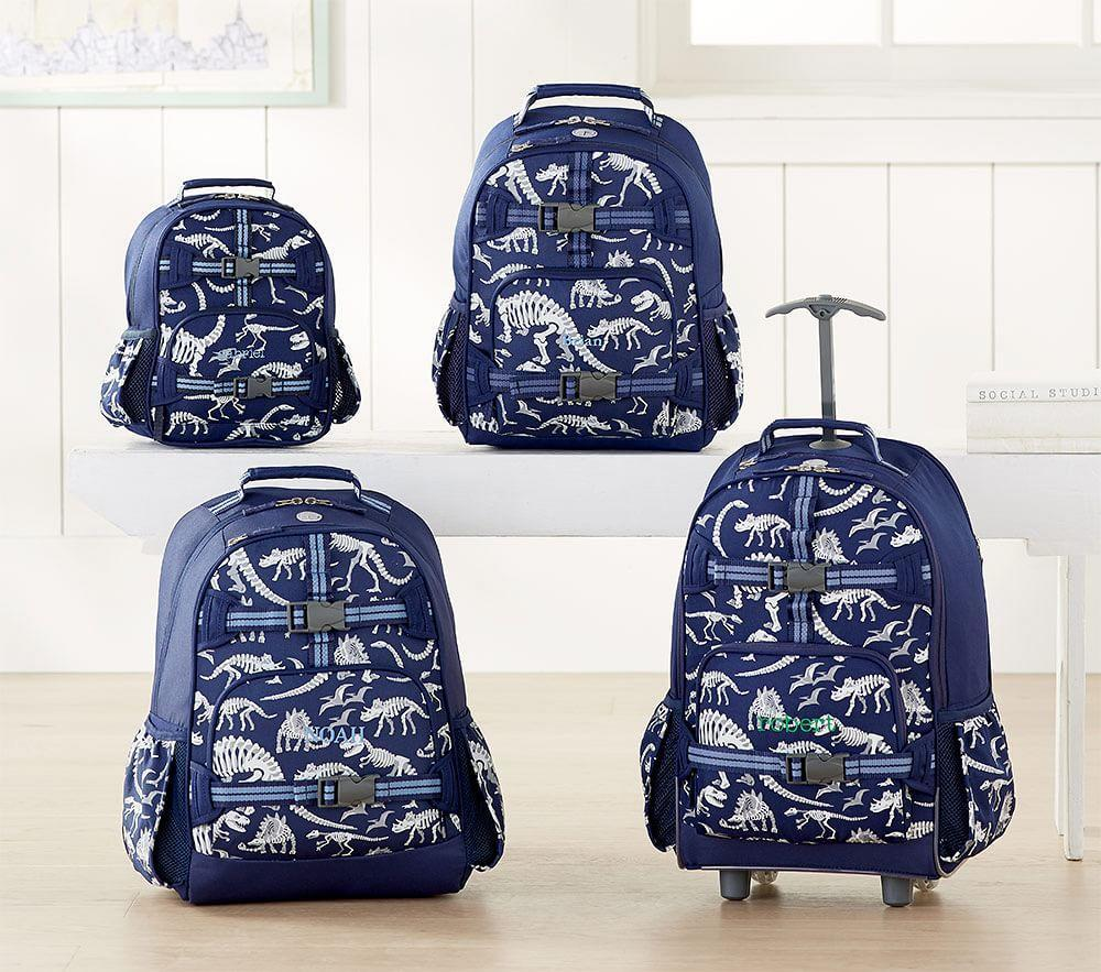 Mackenzie Blue Dino Glow-in-the-Dark Backpack