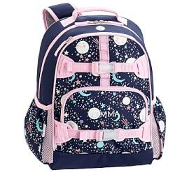Mackenzie Pink Navy Glow-in-the-Dark Moons Backpacks