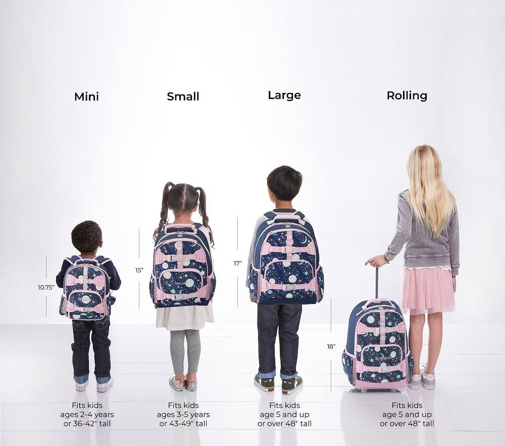 Mackenzie Pink Navy Glow-in-the-Dark Moons Backpacks