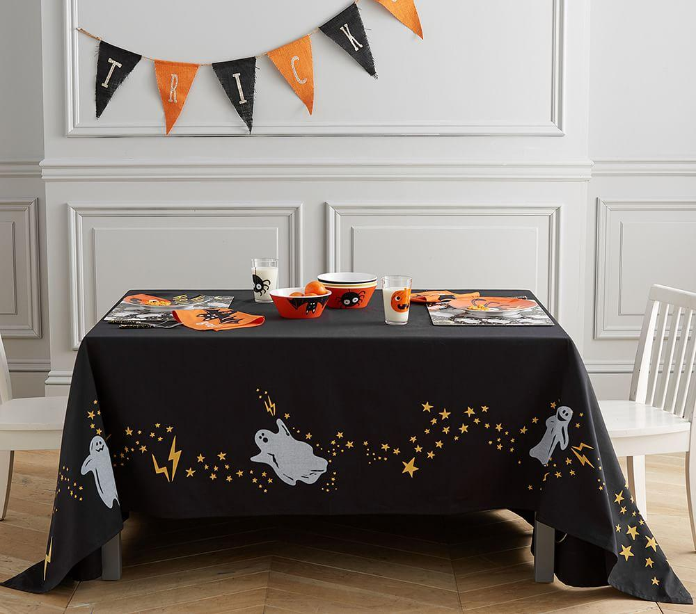 Halloween Glow-in-the-Dark Ghost Tablecloth