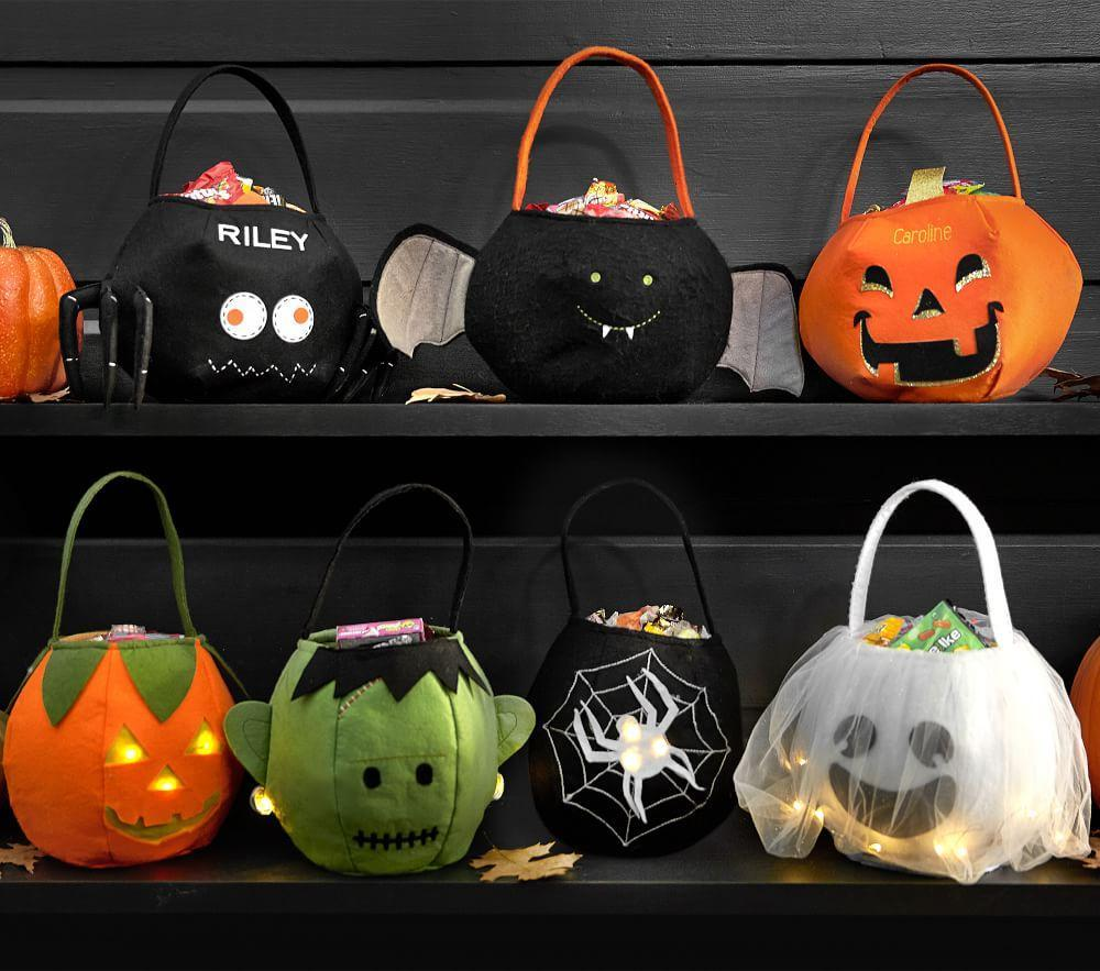 Light Up Pumpkin Puffy Treat Bag