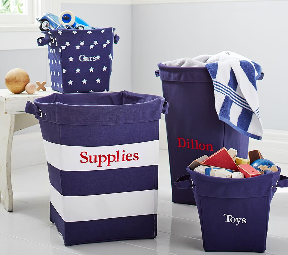 Navy Canvas Storage