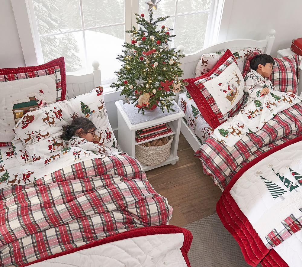 Organic Merry Santa Sheet Set