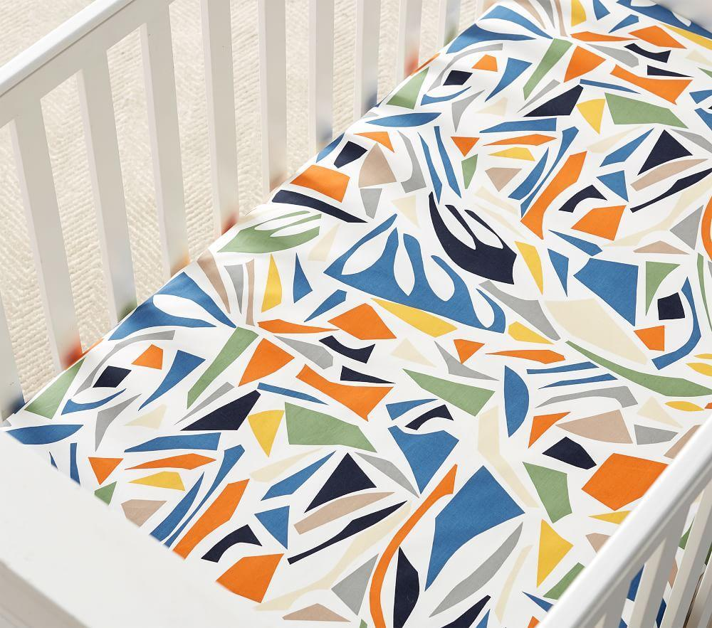west elm x pbk Mid-Century Safari Fitted Cot Sheet