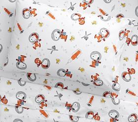 Snoopy® Space Glow-in-the-Dark Sheet Set