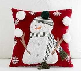 Juggling Snowman Cushion