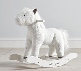Spotted Horse Plush Nursery Rocker