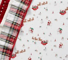 Organic Santa's Sleigh Cot Fitted Sheet
