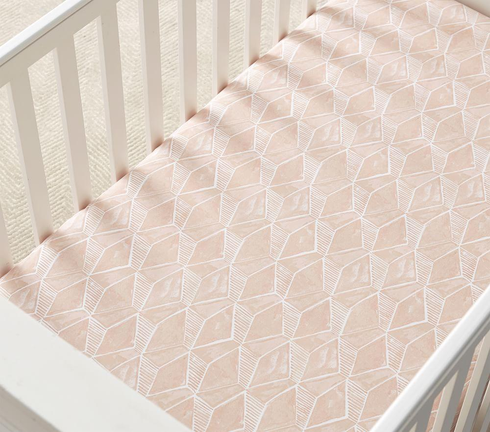 west elm x pbk Organic Deco Geo Fitted Cot Sheet