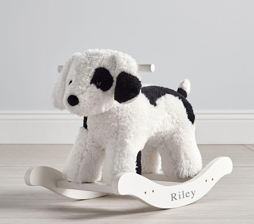 Sherpa Puppy Plush Nursery Rocker