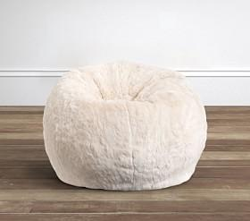 Ivory Fur Anywhere Beanbag®