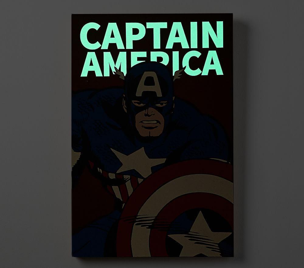 Marvel Super Heroes Glow In the Dark Art, Captain America