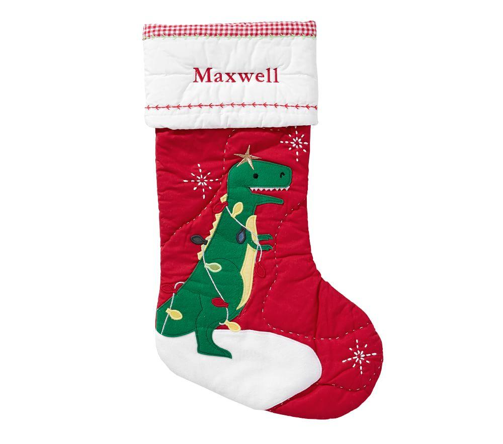 Dinosaur Quilted Stocking