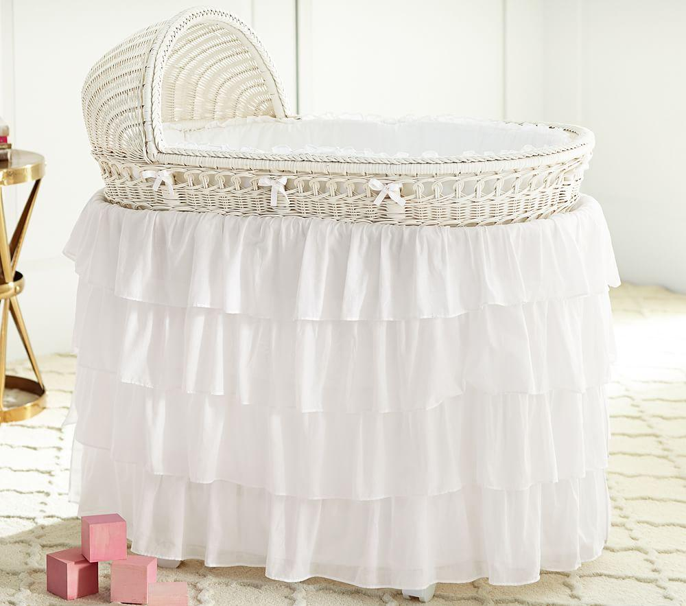 Bassinet & Mattress Pad Set - Simply White