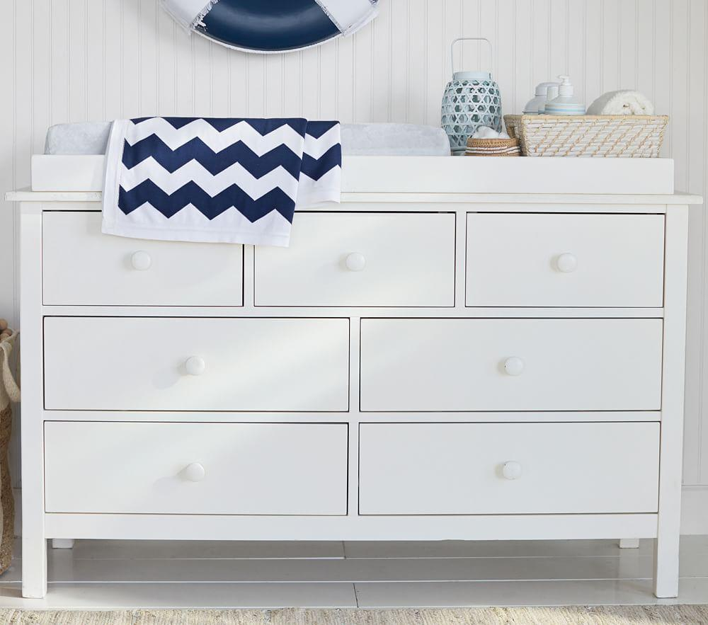 Kendall Extra-Wide Dresser & Change Table Topper - Simply White